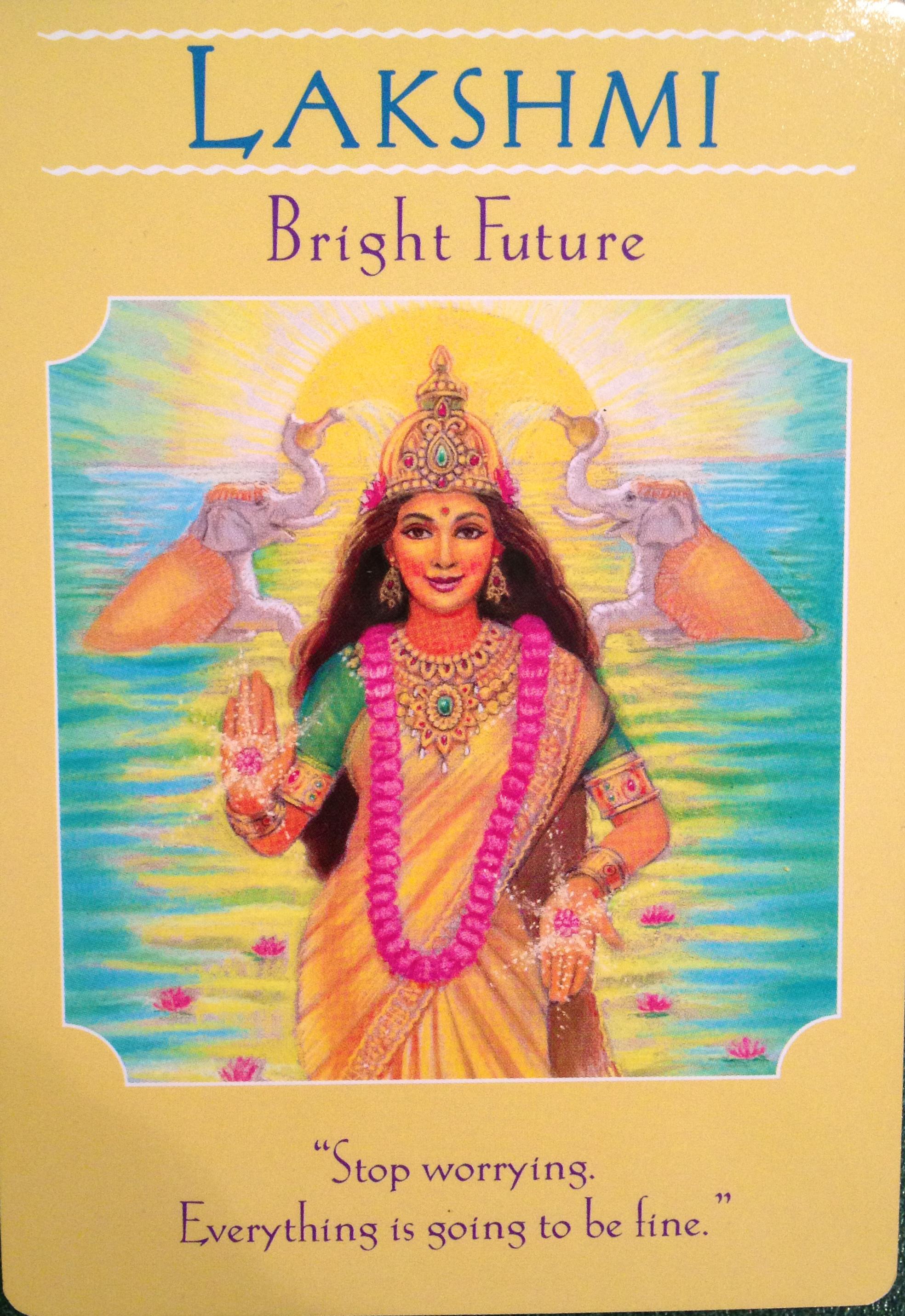 Goddess Lakshmi Bright Future Archangel Oracle