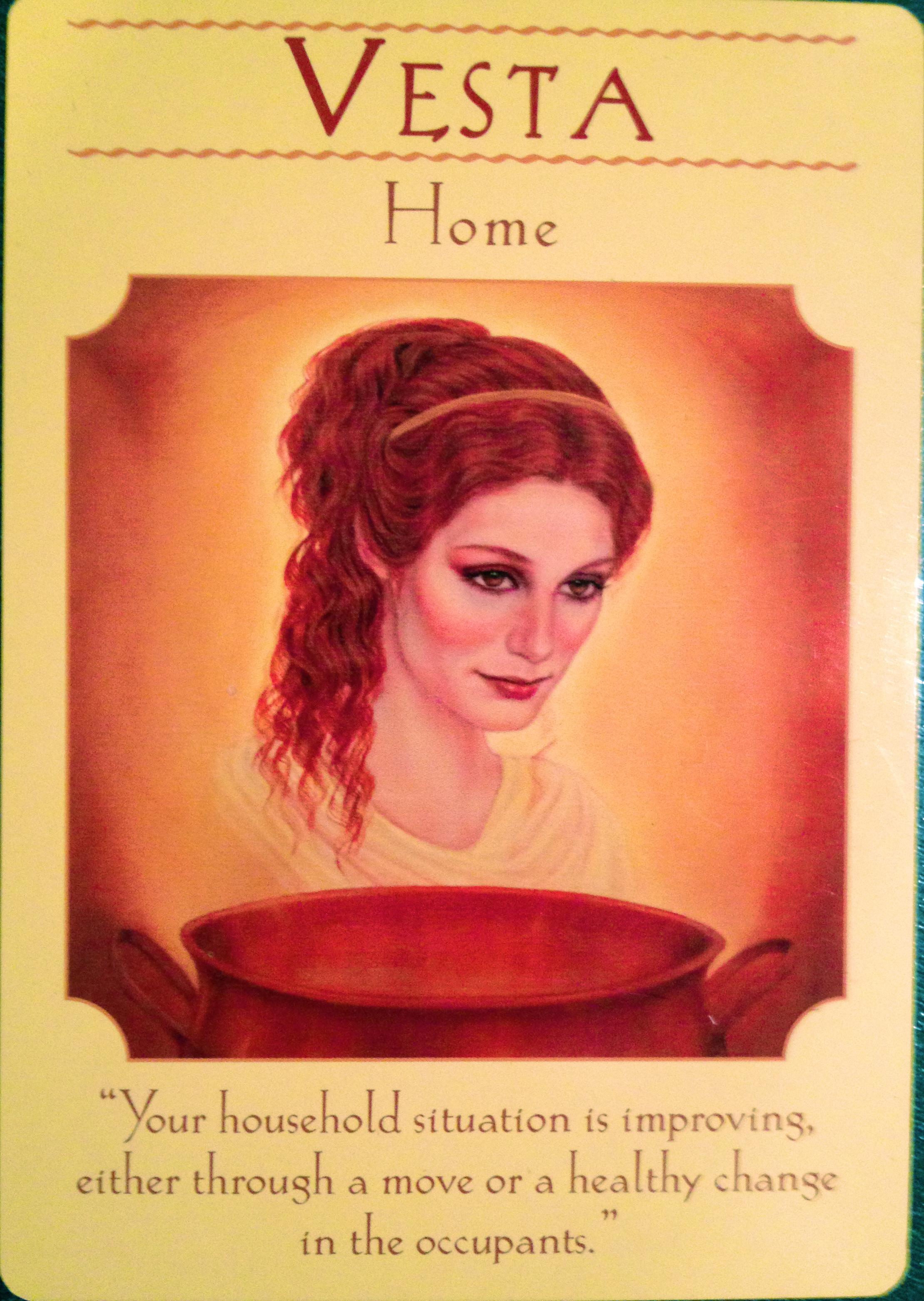 Goddess Vesta Home Archangel Oracle Divine Guidance