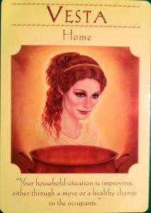 goddess Vesta, home
