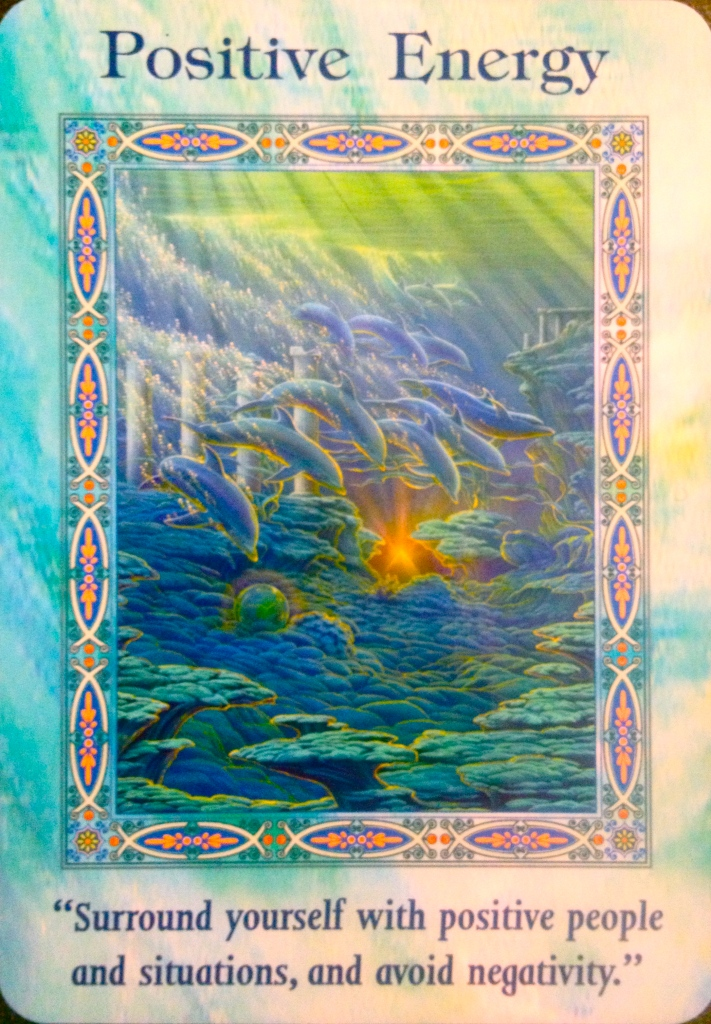 Positive Energy, from the Magical Mermaids and Dolphins Oracle Card deck, by Doreen Virtue, Ph.D
