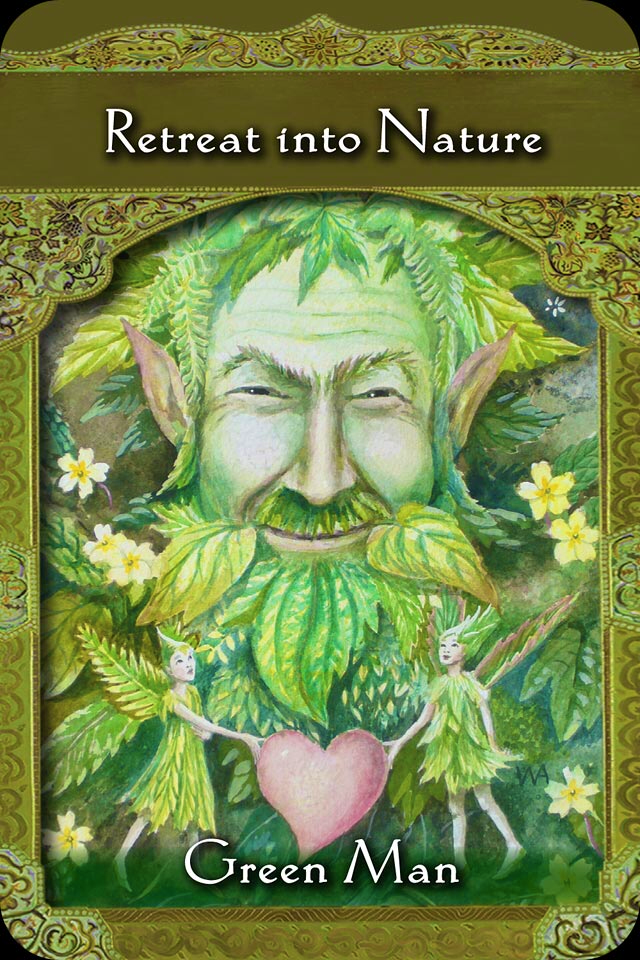 Green Man Retreat Into Nature Archangel Oracle