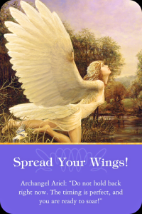 Archangel Ariel spread your wings