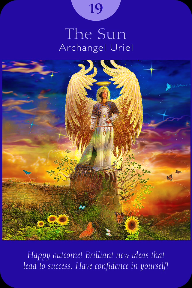 archangel uriel sun card