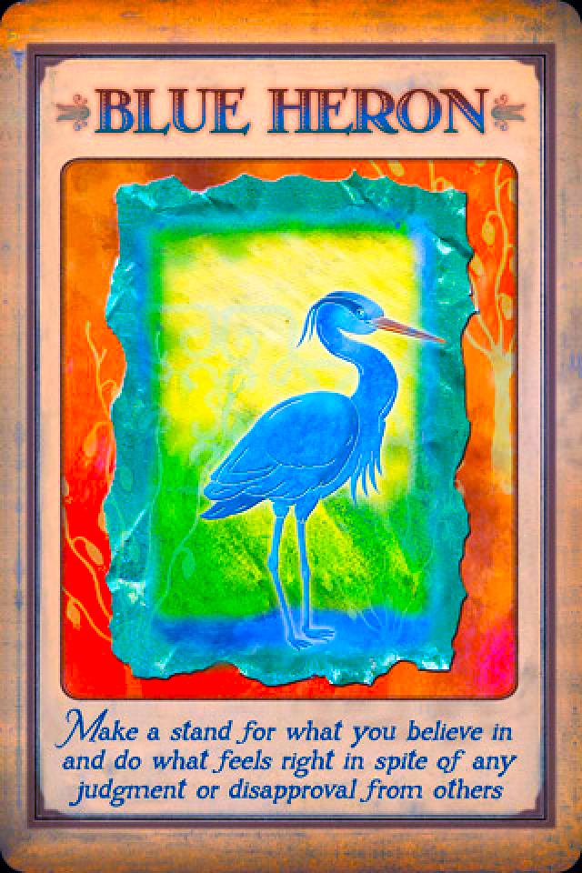 Blue Heron Archangel Oracle Divine Guidance