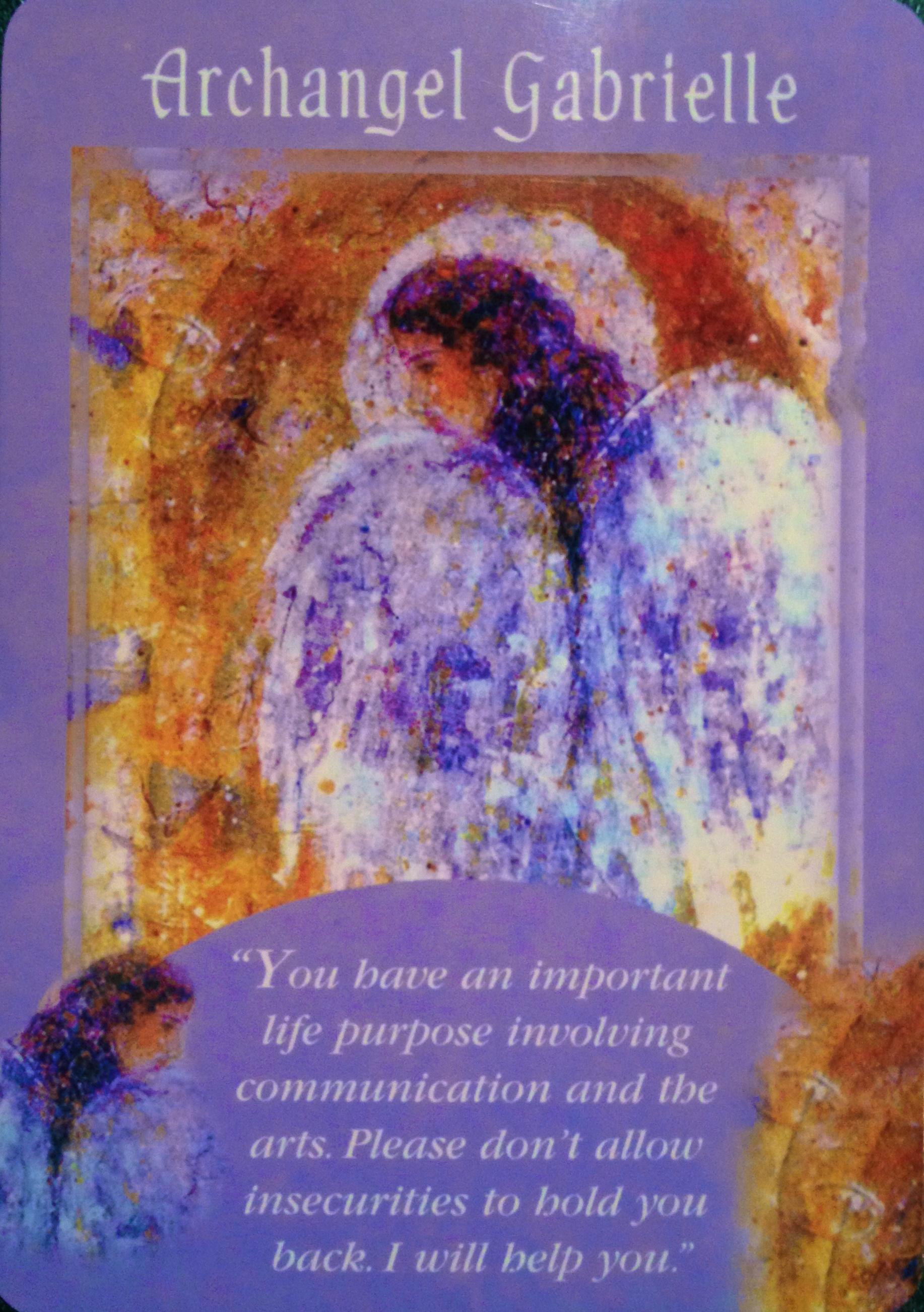 Souvent Archangel Gabrielle | Archangel Oracle ~ Divine Guidance CF03