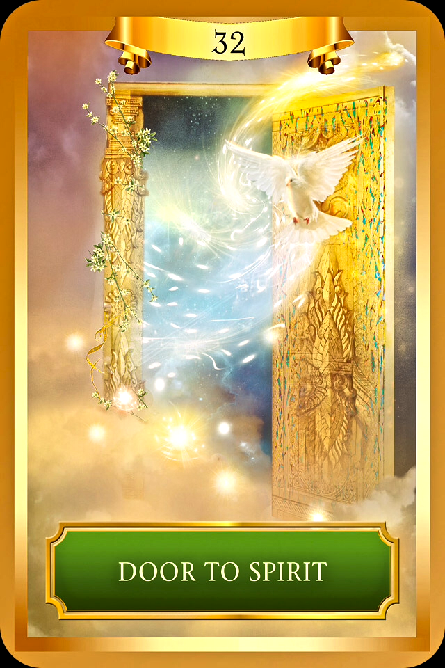 Door To Spirit, From The Energy Oracle Card Deck, By Sandra Anne Taylor