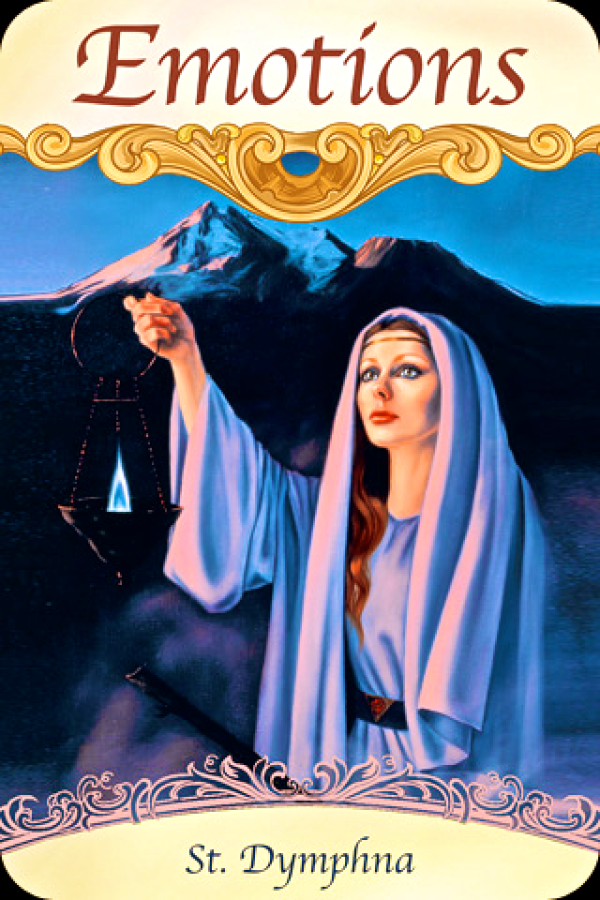 St Dymphna ~ Emotions, from the Saints and Angels Oracle Card deck, by Doreen Virtue, Ph.D