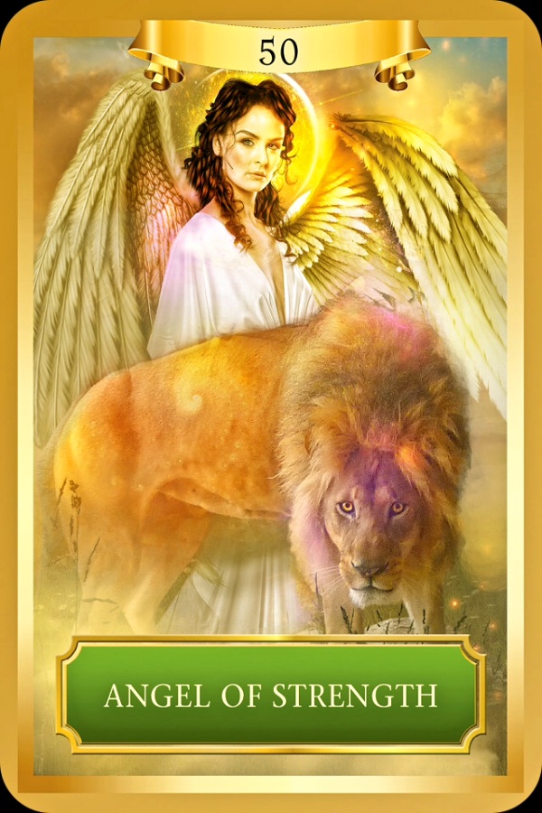 Angel Of Strength,  from the Energy Oracle card deck, by Sandra Anne Taylor