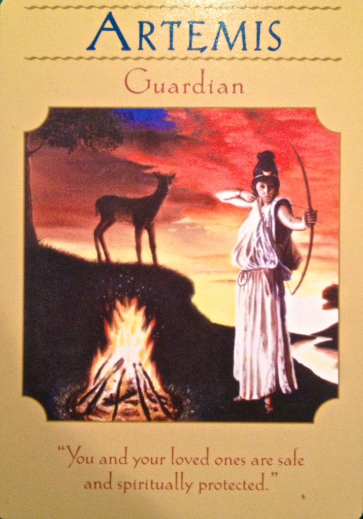 Artemis ~ Guardian from the Goddess Guidance Oracle Card deck, by Doreen Virtue, Ph.D