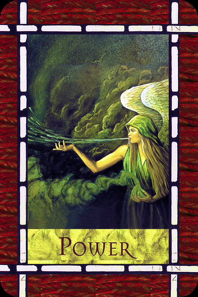 Power, from the Healing With The Angels Oracle Card deck, by Doreen Virtue, Ph.D
