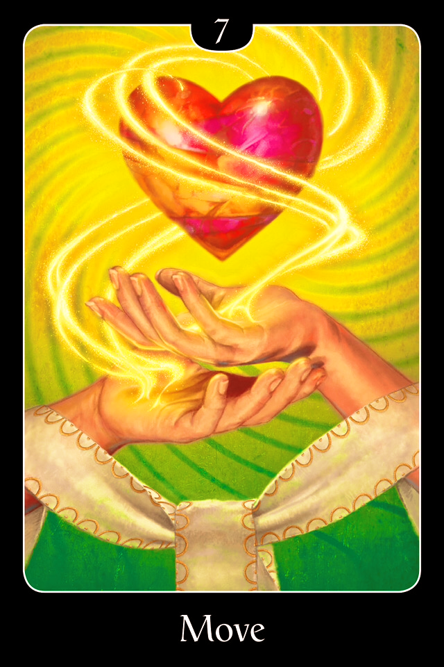 Move, from the Psychic Oracle For The Heart, by John Holland