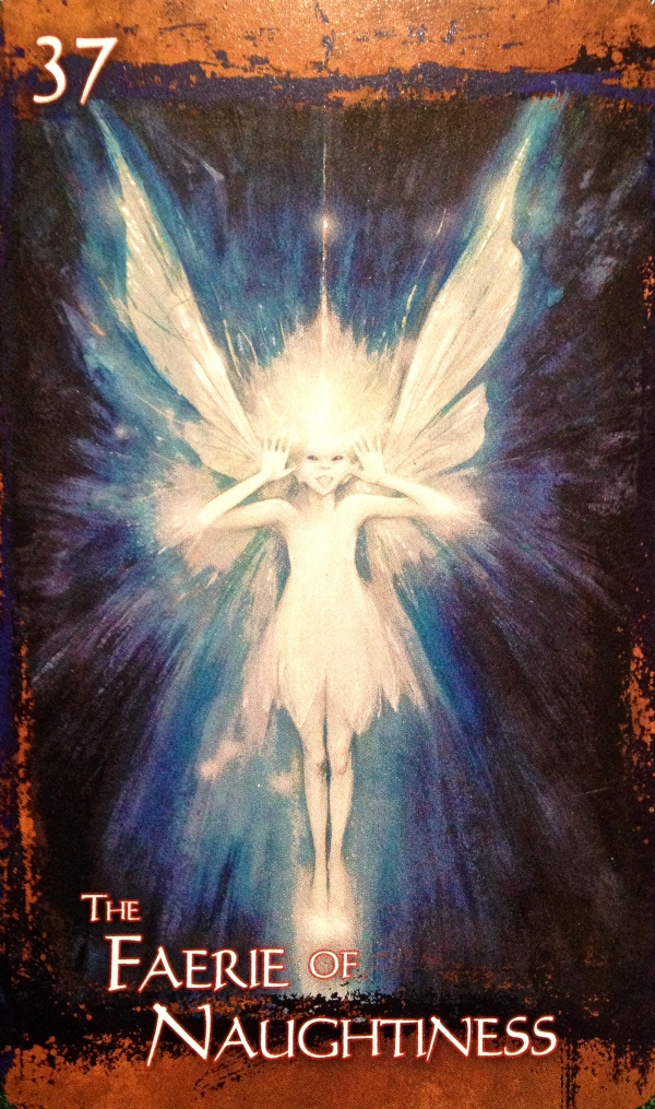 The Faerie Of Naughtiness, from The Heart Of Faerie Oracle Card deck, by Brian and Wendy Froud
