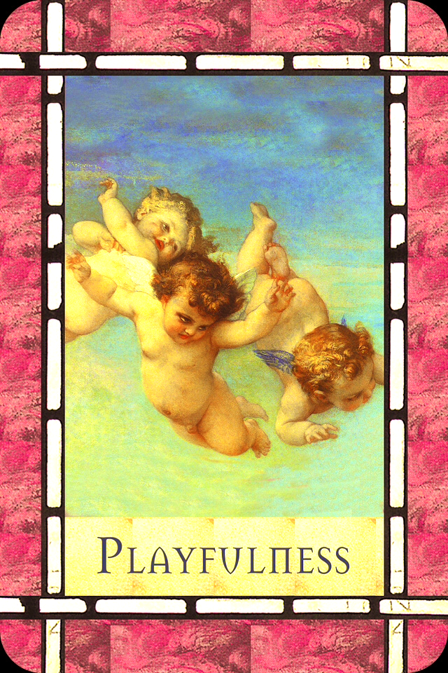 Playfulness, from the Healing With The Angels Oracle Card deck, by Doreen Virtue, Ph.D