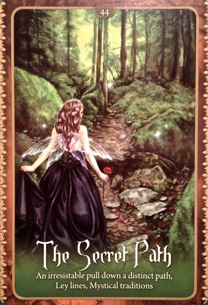 The Secret Path, From the Wild Wisdom Of The Faery Oracle Card deck, by Lucy Cavendish