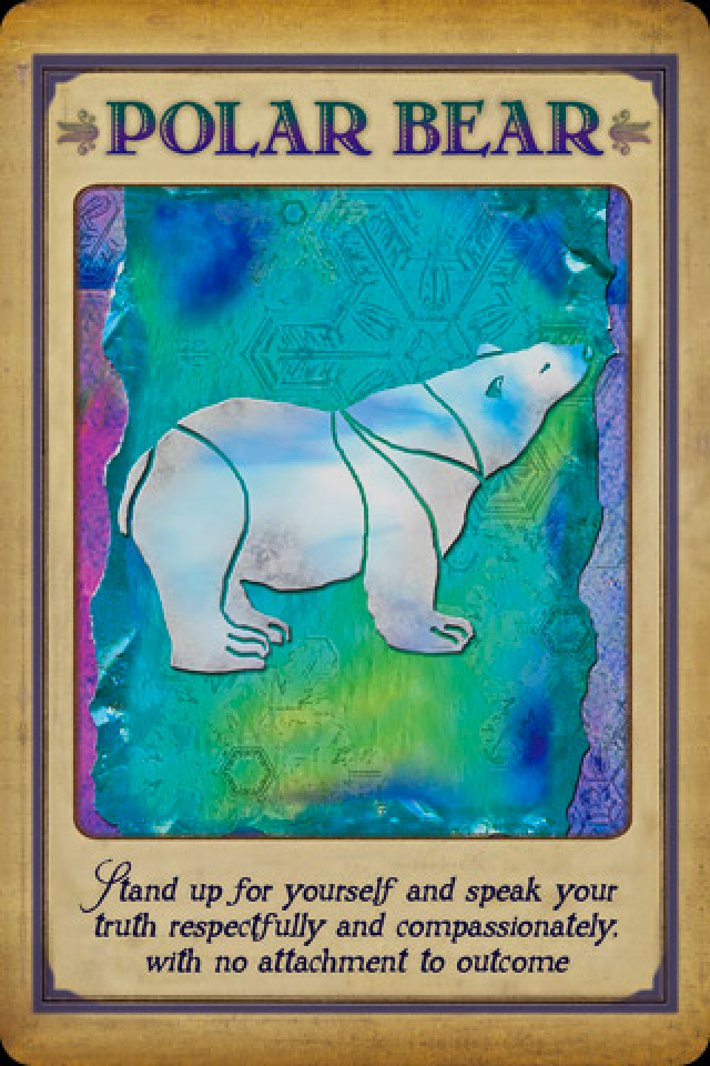 Polar Bear, from the Messages From Your Animal Spirit Guides Oracle Card deck, by Stephen D. Farmer