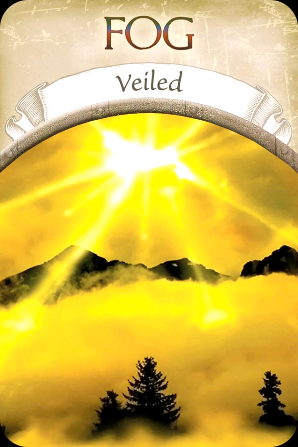 Fog ~ Veiled, From The Earth Magic Oracle Card deck, by Stephen D Farmer