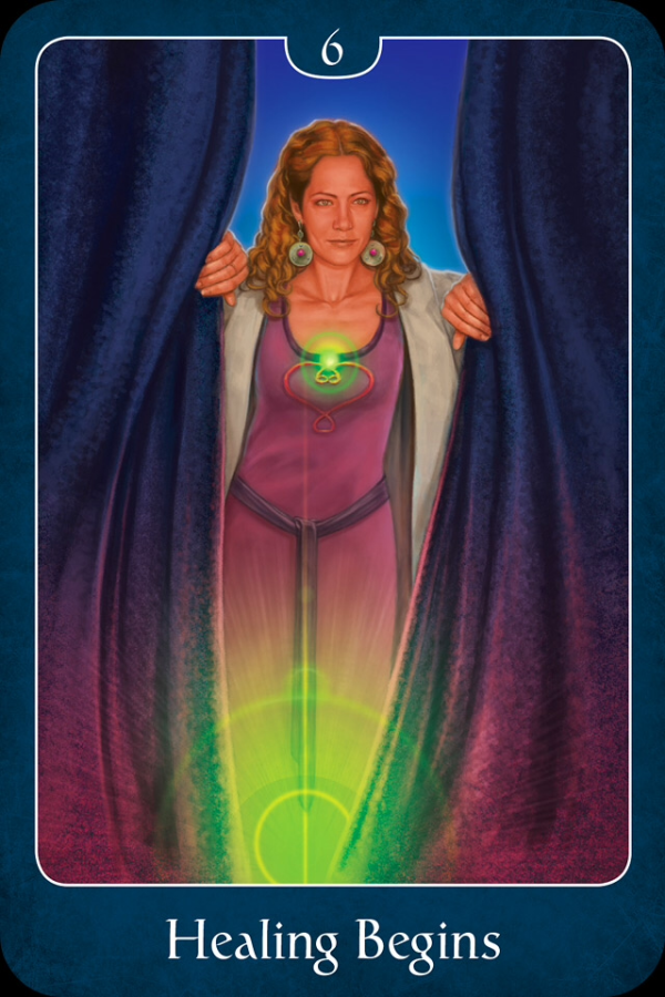Healing Begins, from the Psychic Tarot For The Heart Oracle Card deck, by John Holland
