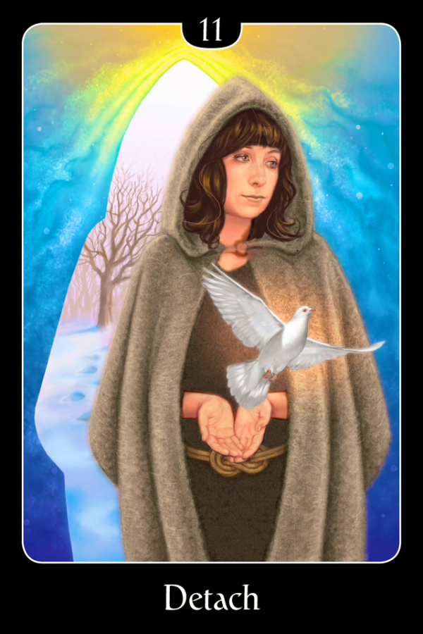 Detach, from the Psychic Tarot For The Heart Oracle Card deck, by John Holland