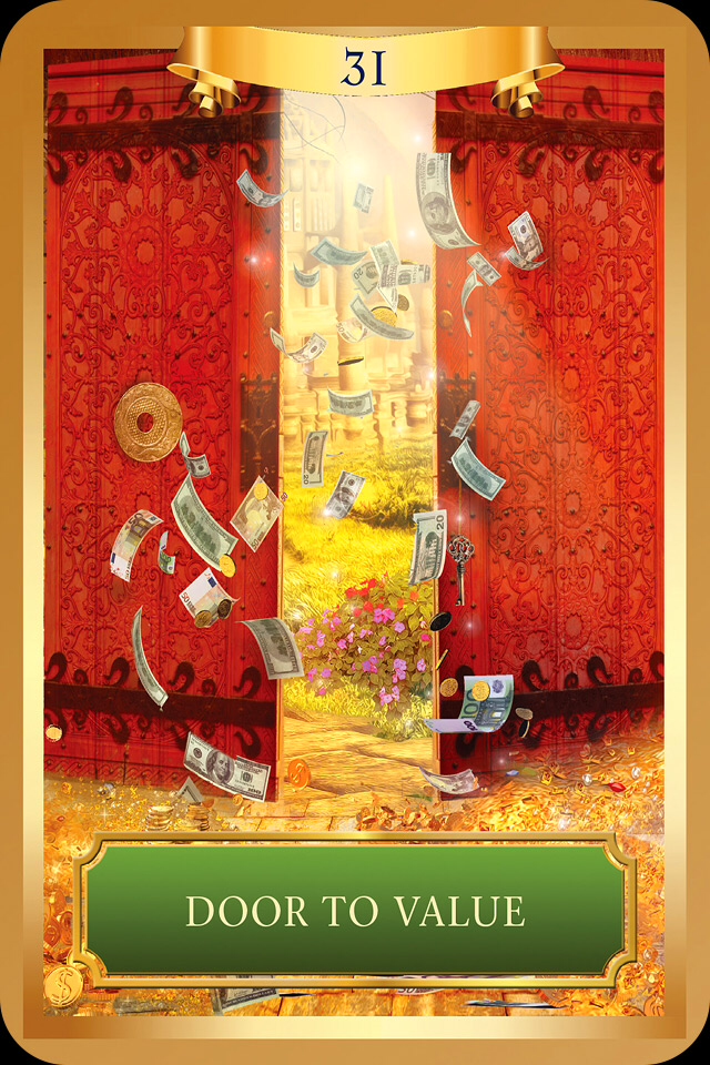 Door To Value, From The Energy Oracle Card deck, by Sandra Anne Taylor