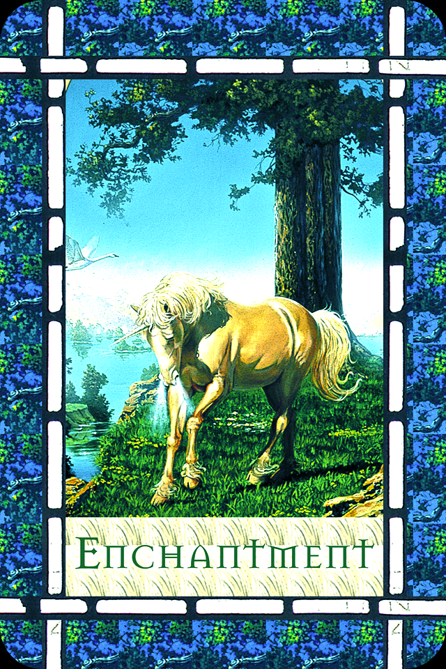 Enchantment, from the Healing With The Angels Oracle Card deck, by Doreen Virtue, Ph.D