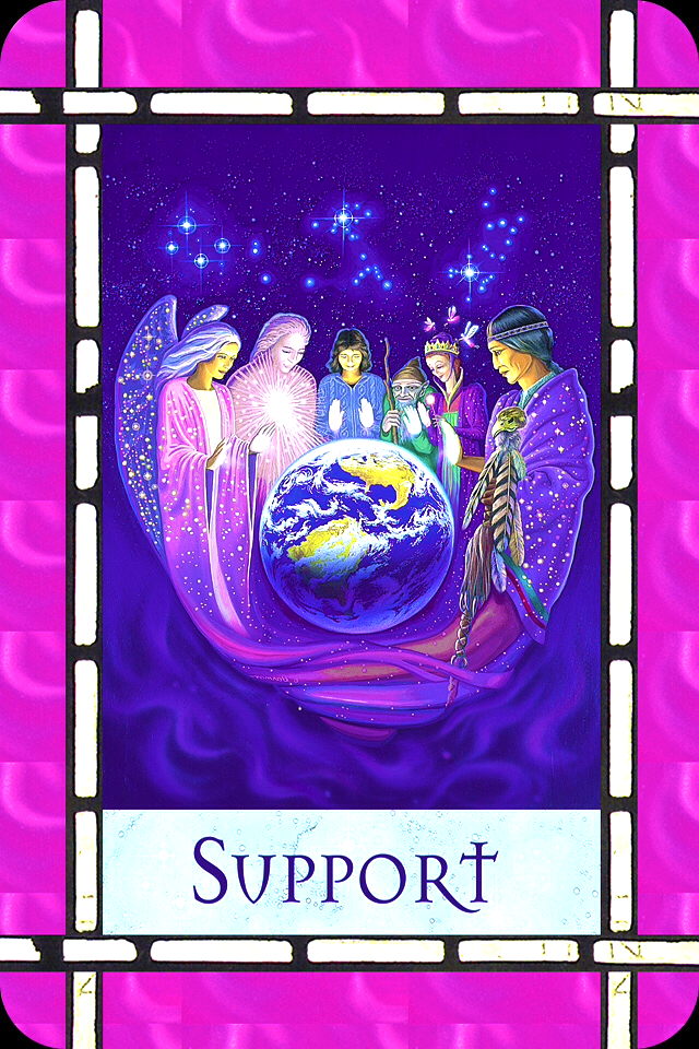 Support, from the Healing With The Angels Oracle Card deck, by Doreen Virtue, Ph.D