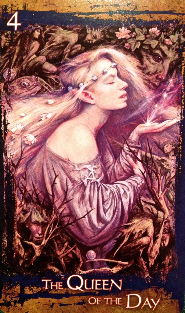 The Queen Of The Day, from The Heart Of Faery Oracle card deck, by Brian and Wendy Froud