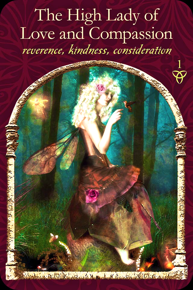The High Lady Of Love and Compassion, from the Wisdom Of The Hidden Realms Oracle Card deck, by Colette Baron-Reid