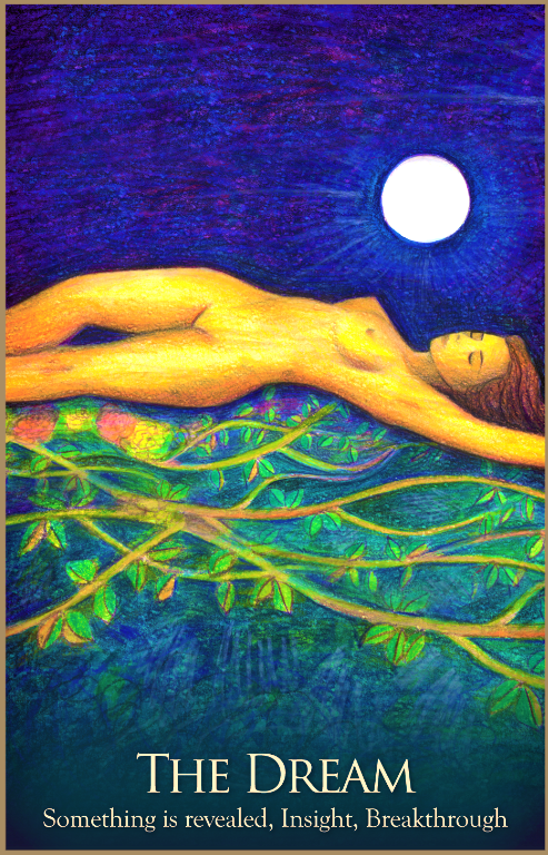 The Dream, from the Gaia Oracle Card deck, by Toni Carmine Salerno