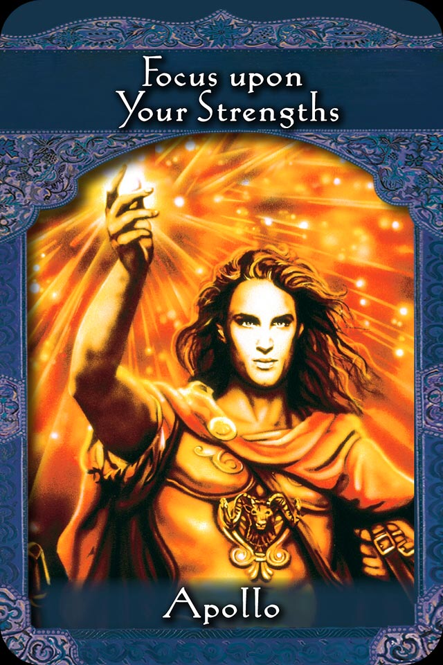 Focus Upon Your Strengths, from the Ascended Masters Oracle Card deck, by Doreen Virtue, Ph.D