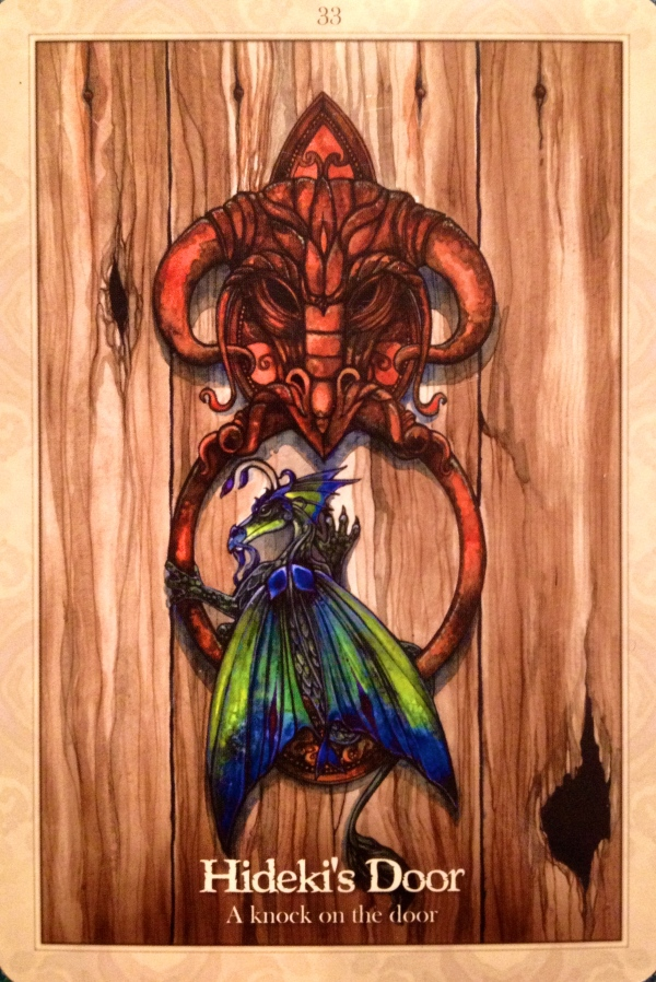 Hideki's Door, from the Oracle Of The Dragonfae, by Lucy Cavendish
