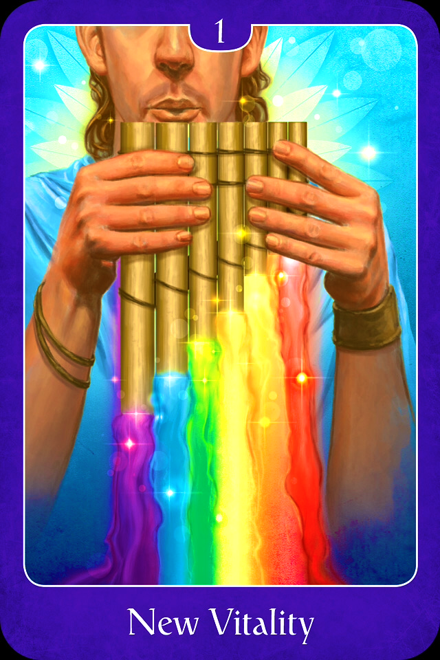 New Vitality, from the Psychic Tarot For The Heart Oracle Card deck, by John Holland