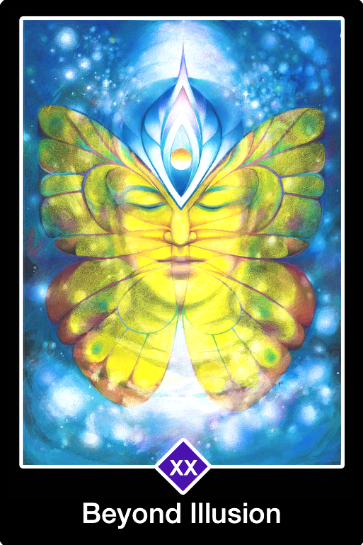 Beyond Illusion, from the Osho Zen Tarot card deck, by Osho