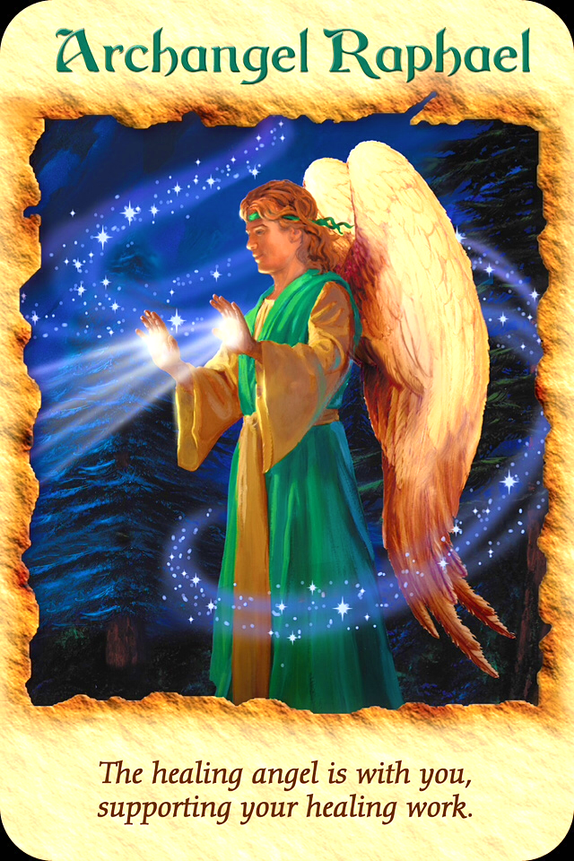 Archangel Raphael, from the Angel Therapy Oracle Card deck, by Doreen Virtue, Ph.D
