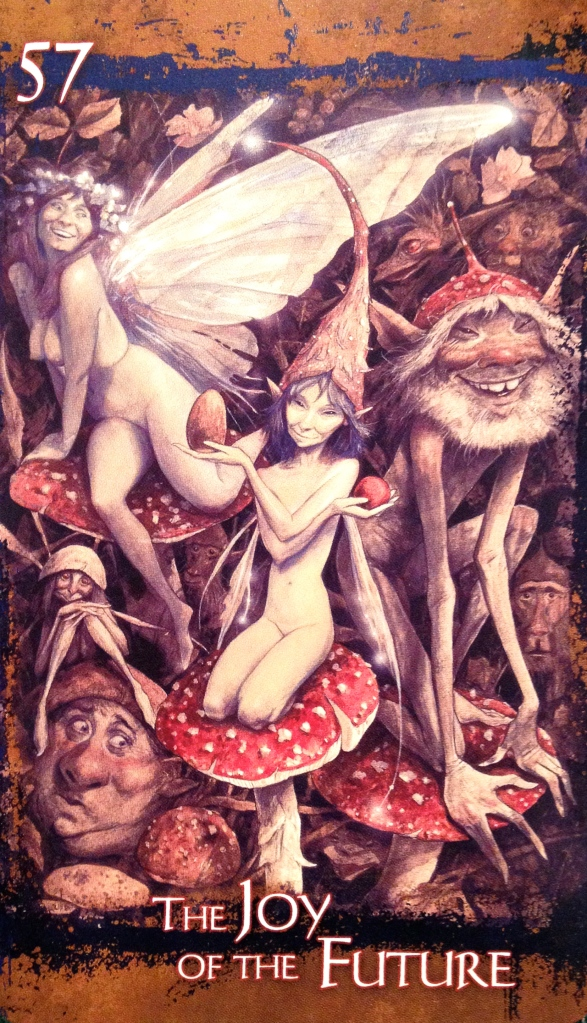 The Joy Of The Future, from the Heart Of Faerie Oracle Card deck, by Brian and Wendy Froud
