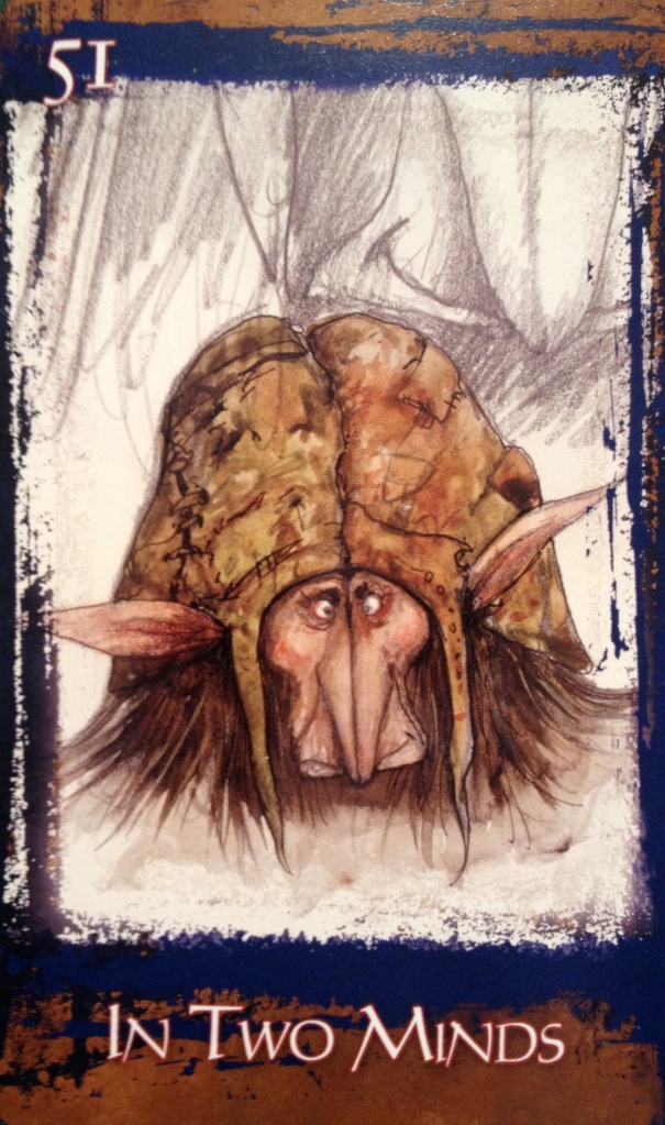 In Two Minds, from the Heart Of Faery Oracle Card deck, by Brian and Wendy Froud