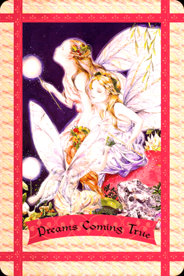 Dreams Coming True from the Healing With The Fairies Oracle Card deck, by Doreen Virtue, Ph.D