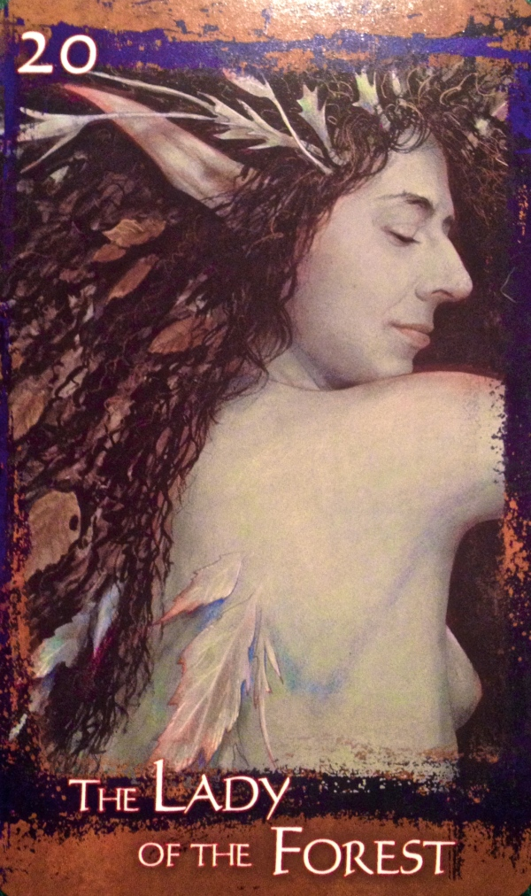 The Lady Of The Forest, from the Heart Of Faery Oracle Card deck, by Brian and Wendy Froud