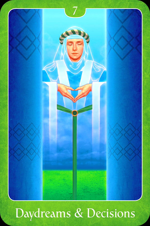 Daydreams and Decisions, from the Psychic Tarot For The Heart Oracle Card deck, by John Holland