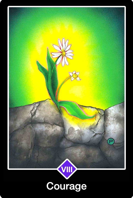 Courage, from the Osho Zen Tarot Card deck, by Osho