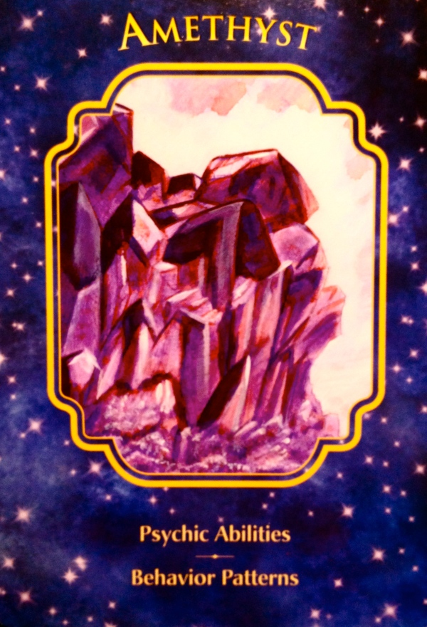Amethyst, from the Angel Dreams Oracle Card deck, by Doreen Virtue, Ph.D and Melissa Virtue