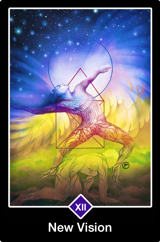 New Vision, from the Osho Zen Tarot card deck, by Osho