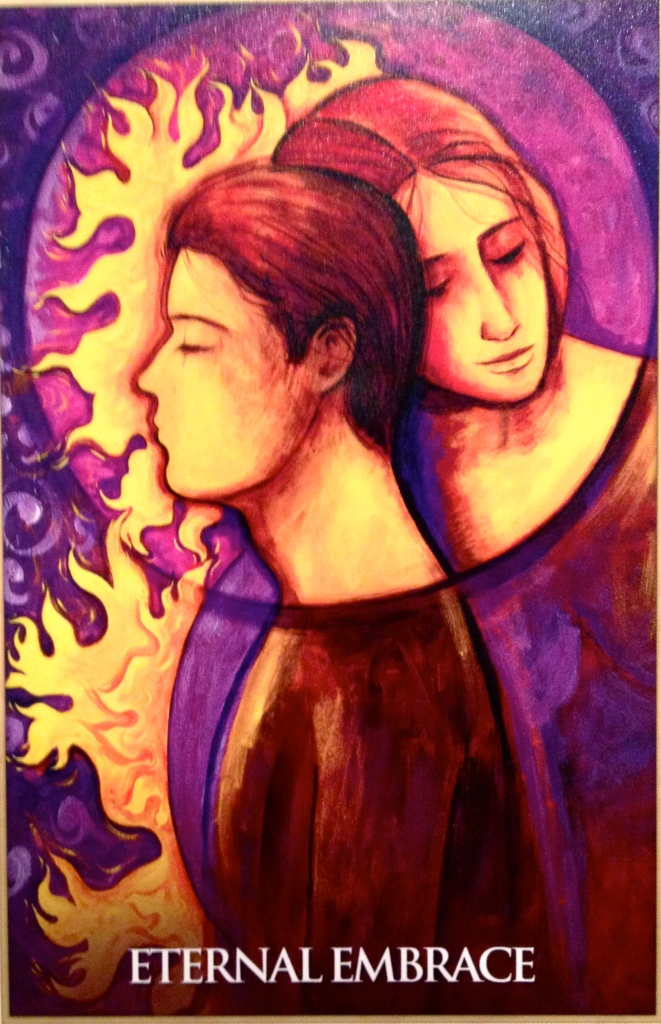 Eternal Embrace, from the Magdalene Oracle Card deck, by Toni Carmine Salerno