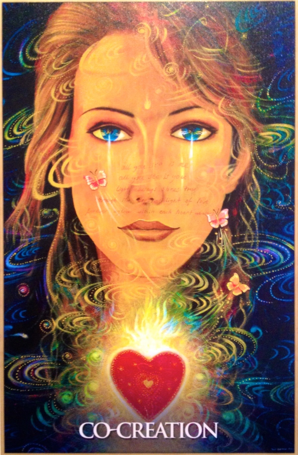 Co-Creation, from the Mary Magdalene Oracle Card deck, by Toni Carmine Salerno
