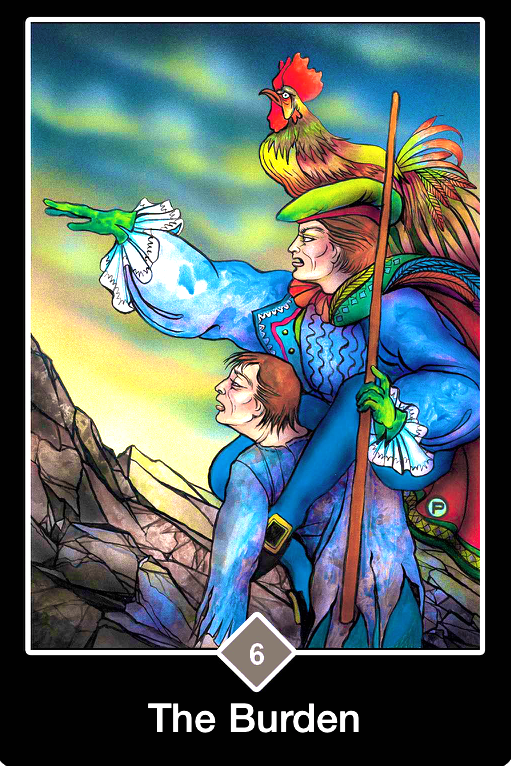 The Burden, from the Osho Zen Tarot Card deck, by Osho