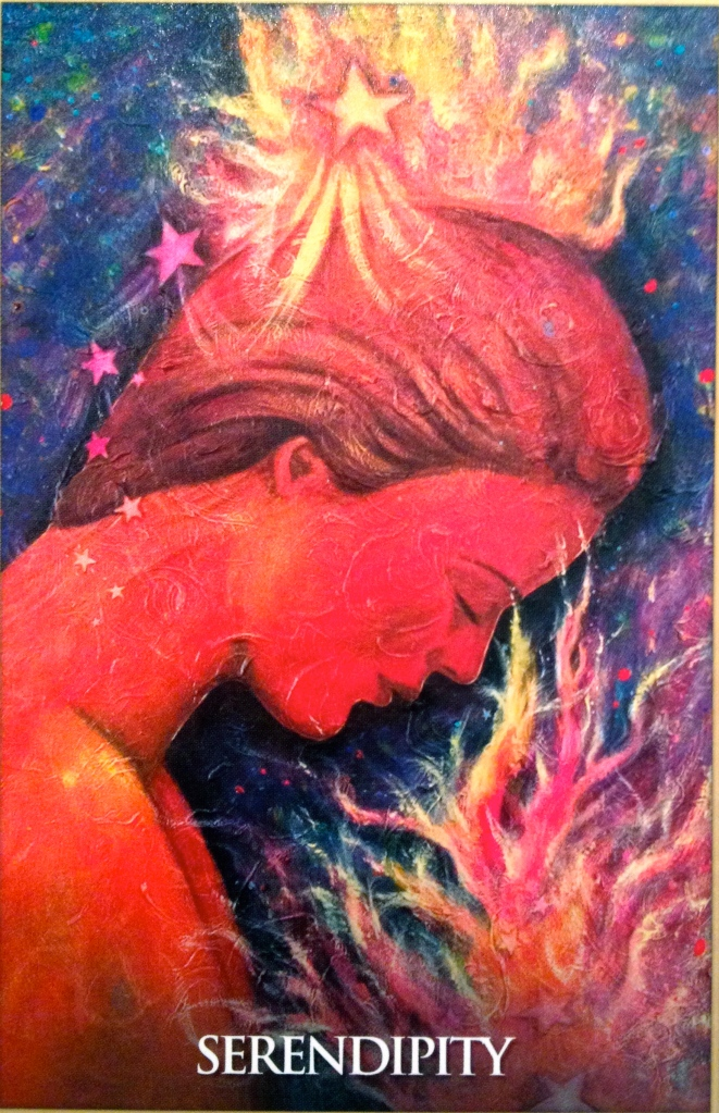 Serendipity, from the Magdalene Oracle Card deck, by Toni Carmine Salerno