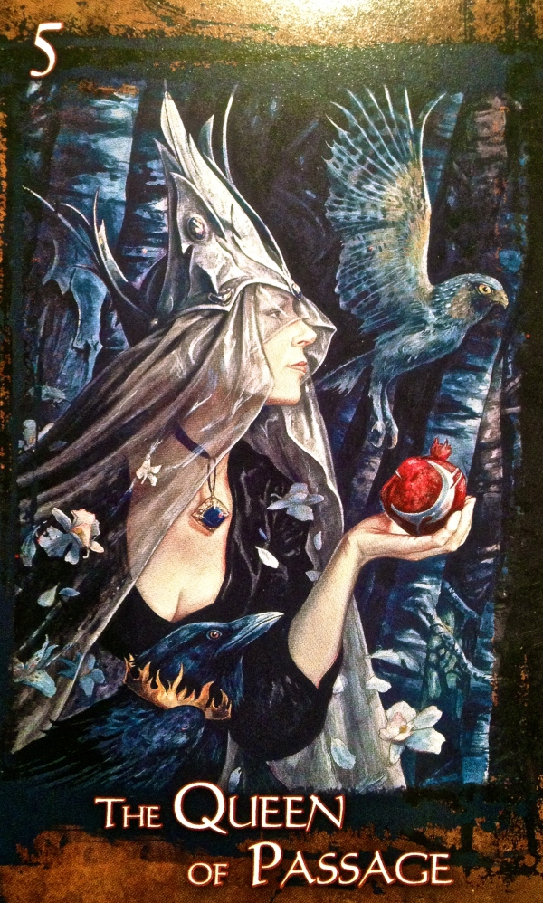 The Queen Of Passage, from the Heart Of Faerie Oracle Card deck, by Brian and Wendy Froud