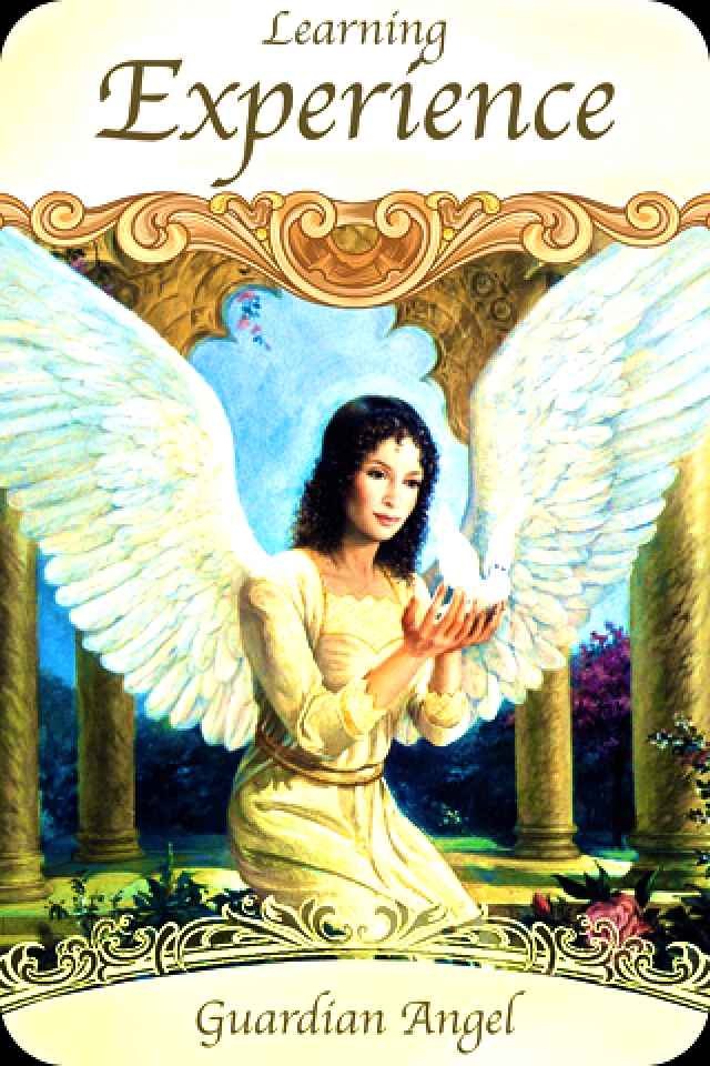 Guardian Angel ~ Learning Experience, from the Saints and Angels Oracle Card deck, by Doreen Virtue, Ph.D