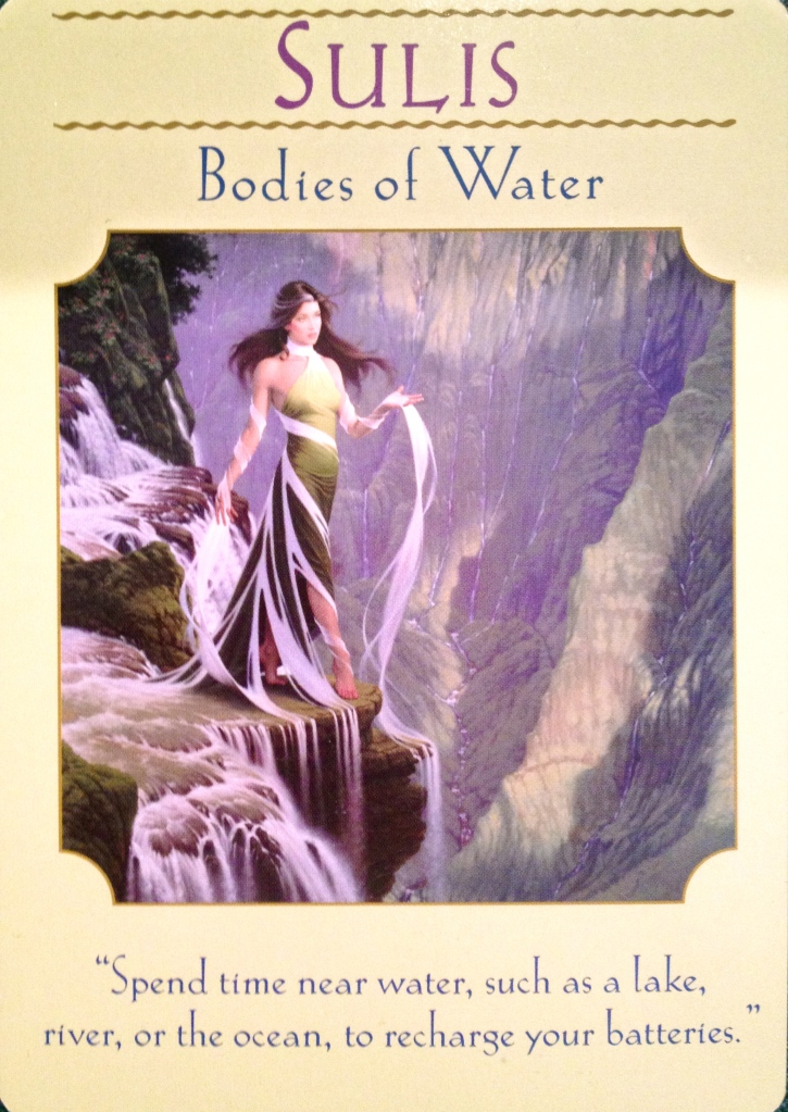 Sulis ~ Bodies Of Water, from the Goddess Guidance Oracle Card deck, by Doreen Virtue, Ph.D