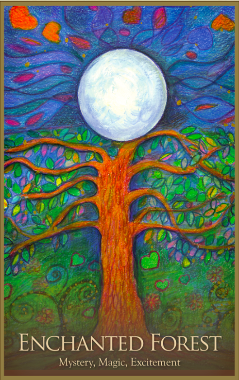 Enchanted Forest, from the Gaia Oracle Card deck, by Toni Carmine Salerno
