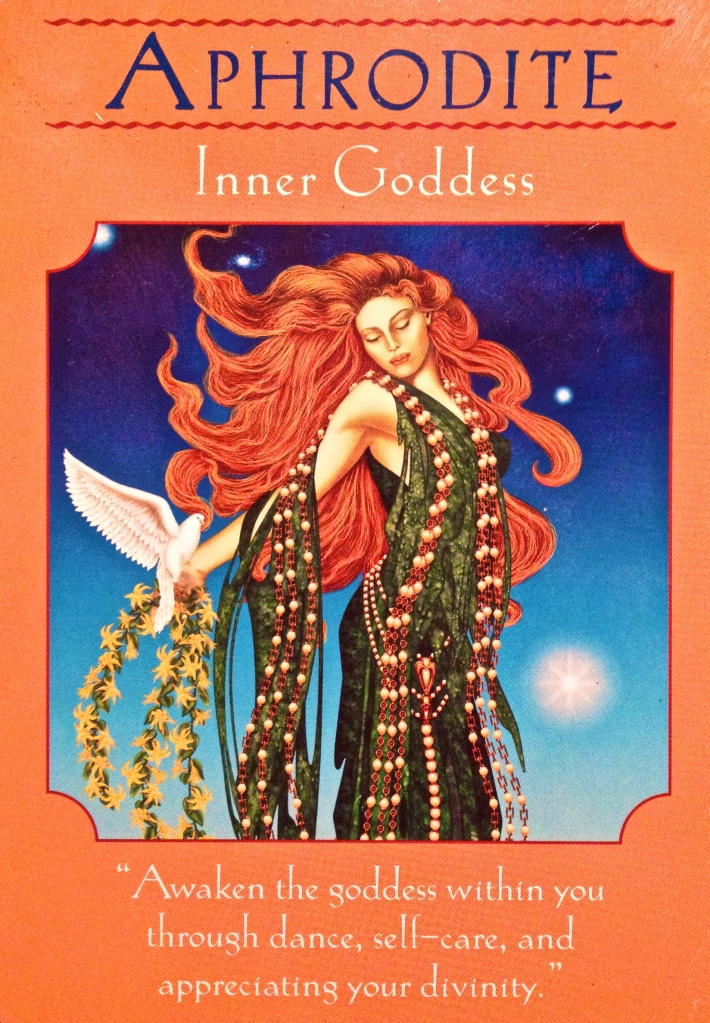 Aphrodite ~ Inner Goddess, from the Goddess Guidance Oracle Cards, by Doreen Virtue, Ph.D